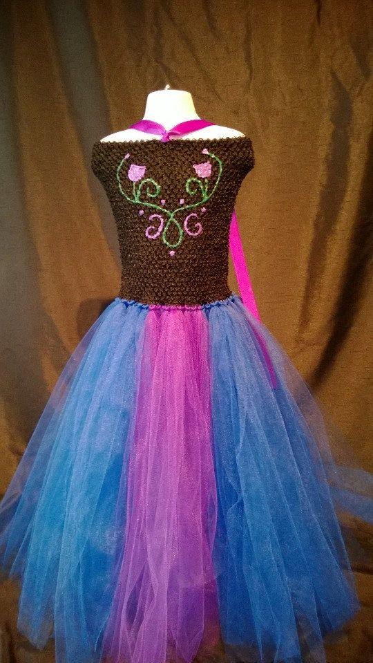 anna frozen tutu dress on Etsy, $65.00