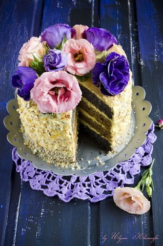 Маково-ореховый торт. | Школа шеф-повара