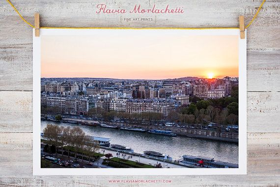 Sunset over Seine Paris photography fine art by FlaviaMorlachetti