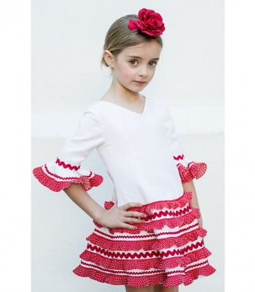 Vestido Gitana Piqué Blanco