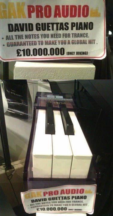 Hahahaha, David Guetta's Piano!