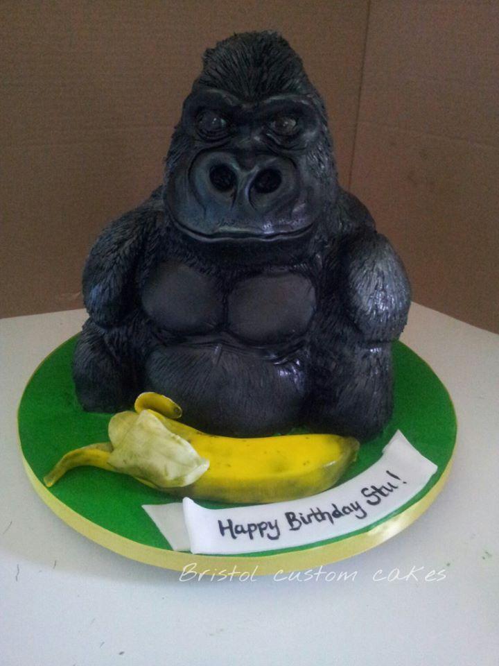 Gorilla Cake Ooh Ooh Ahh Ahh Crazy Cakes Pinterest