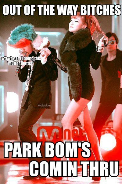 park BOM from 2NE1 an GD and TOP