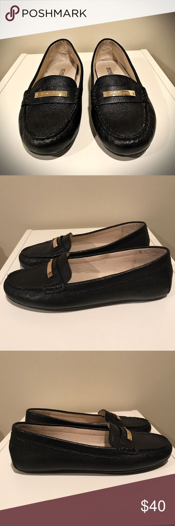 MICHAEL KORS  Everett Leather Loafer Brand new black Leather loafers by Michael KORS.  The added gold bar with logo is such a cute touch.  Dress these up or down.  New with out box! No Trades. MICHAEL Michael Kors Shoes Flats & Loafers