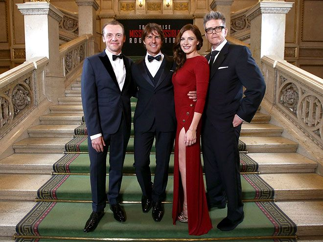 Star Tracks: Monday, July 27, 2015 | ACTION CAST | On Thursday, Simon Pegg, Tom Cruise, Rebecca Ferguson and Christopher McQuarrie promoted Mission: Impossible – Rogue Nation in Vienna, Austria.