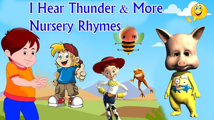 Cartoons For Children | I Hear Thunder & More Nursery Rhymes | Movies Fo...