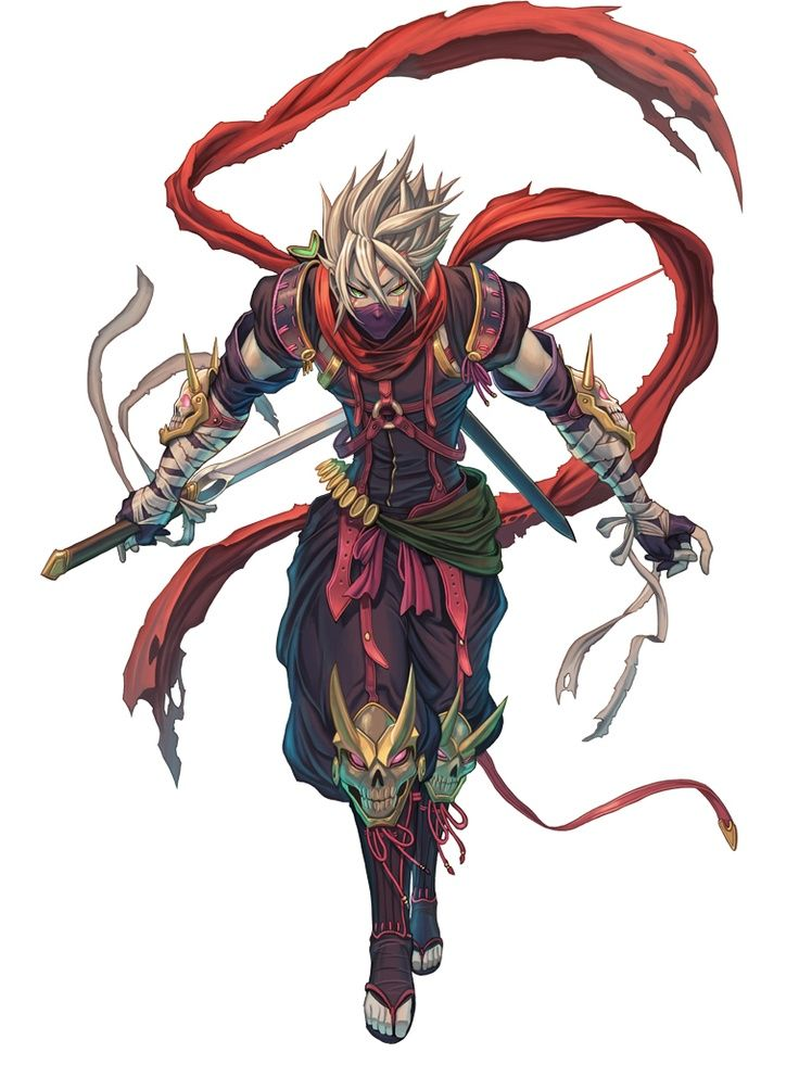 Jeu vidéo : Legend of Valhalla / character : Ninja Azure / http://www.onlinegamer.jp/news/201202020015/