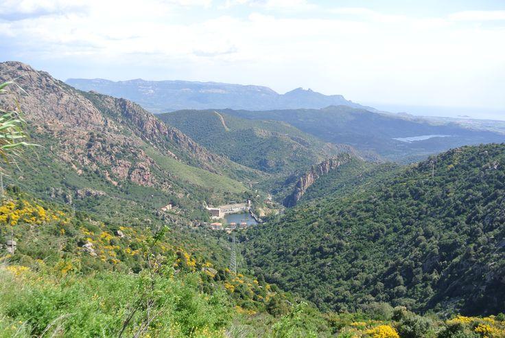 Uitzicht vanaf Villagrande Strisaili in Sardinie