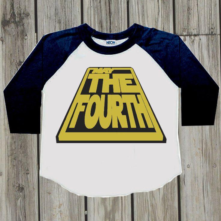 Kids Star Wars shirt. May the fourth. Baby Star Wars shirt. Baby boy clothes. Kids clothes. Boys Star Wars tshirt. Star Wars.  May the 4th by PressThreads on Etsy https://www.etsy.com/listing/231039215/kids-star-wars-shirt-may-the-fourth-baby