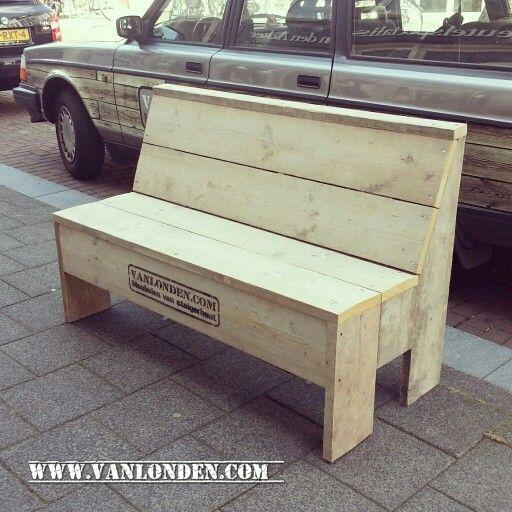 Actieve zitbank van steigerhout... www.vanlonden.com