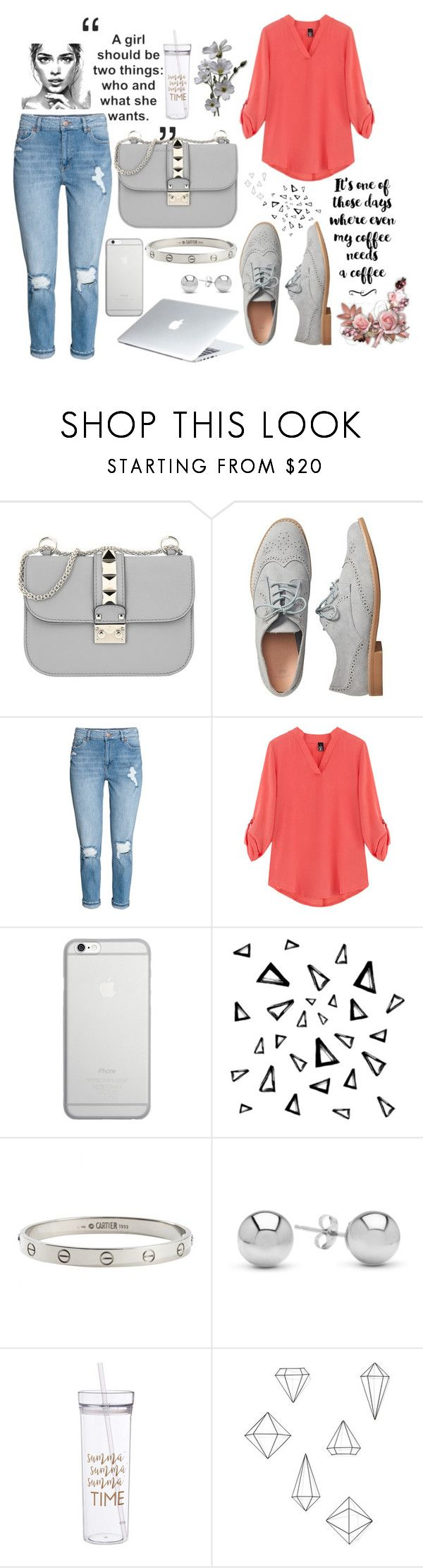 """Outfit"" by jeca09 ❤ liked on Polyvore featuring Valentino, Gap, Native Union, Dyson, Nika, Cartier, Jewelonfire and Umbra"