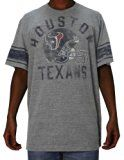 Mens NFL Houston Texans Game Day T-Shirt / Tee (Vintage Look) M Grey