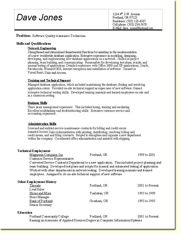 Sample Resume Skills Based Resume - http://www.resumecareer.info/sample-resume-skills-based-resume-3/