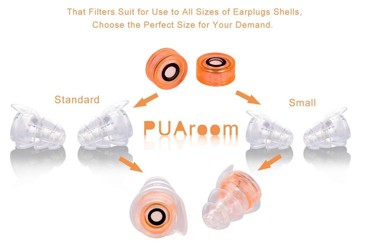 PUAroom High Fidelity Ear Plugs Noise Filtering Hearing Protection With 2 Different Size Reusable Earplugs to Protect Best Hearing for Musicians/drummers/Riders/Concerts/Travel/festival/Sports Events (Orange): Amazon.ca: Tools & Home Improvement