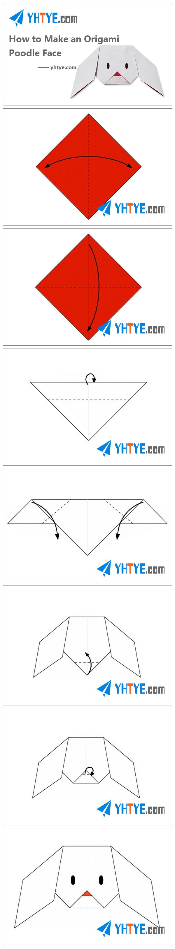 How to Make an Origami Poodle Face