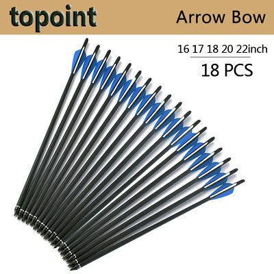 18pcs arrows crossbow bolts 16 17 18 20 22-inch crossbow arrows blue and white l