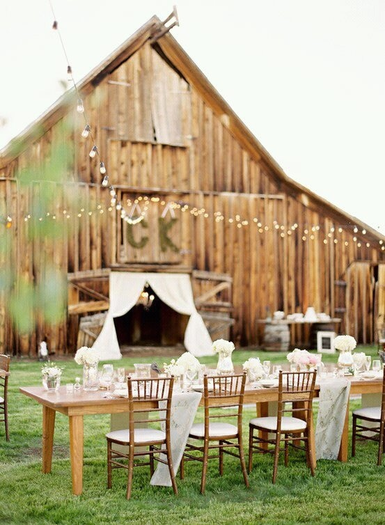 Barn Decorated For Wedding Beautiful