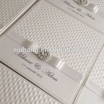 Source Arabic pocket wedding invitations with ribbon and brooch on m.alibaba.com