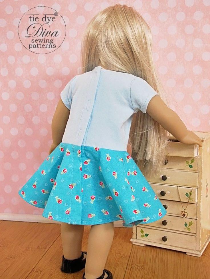 "Garnet Dress, Top, and Skirt Pattern for 18"" Doll American Girl"