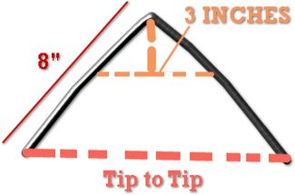 How to Measure for a well fitting saddle - Crest Ridge Saddlery 2014  16 in. wire molded behind the shoulderblade. 3 inches down-gullet. Tip to tip- bar width through the shoulder.