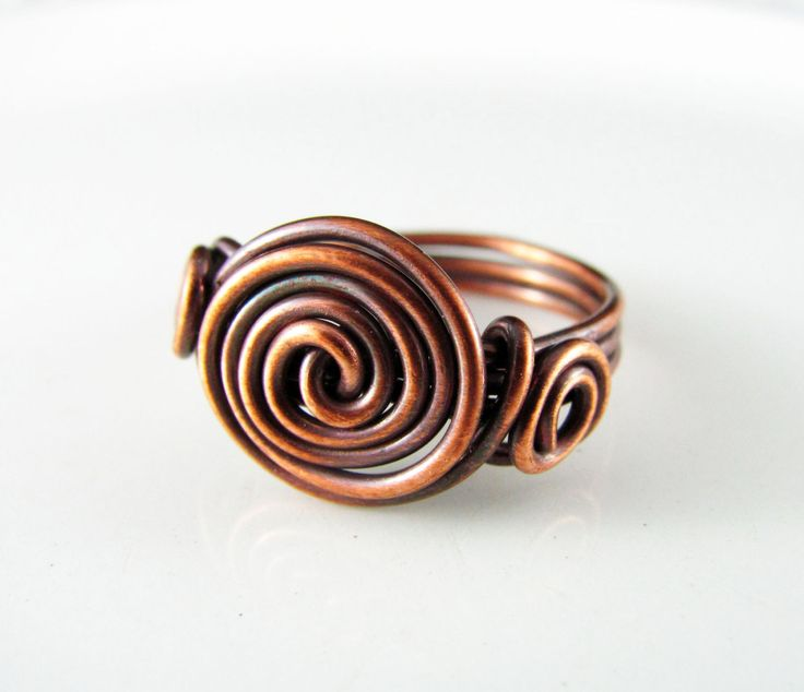 Wire Wrapped Ring Copper Knot Ring Size 5 Wire Wrapped Jewelry Copper Wire Ring by PolymerPlayin on Etsy