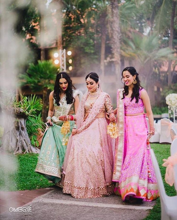 Always by your side! #indianwedding #bridesmaids #bridalentry #entrywithfriends #shaadisaga