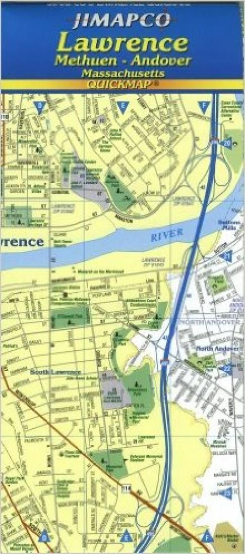 Lawrence, Methuen and Andover, Massachusetts, Quickmap by Jimapco