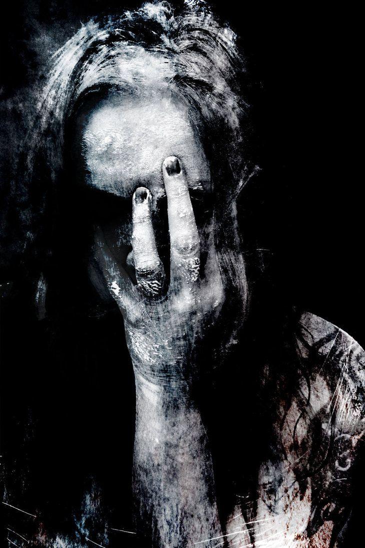 how this feels by *Inextremiss on deviantART  Creepy   Art   Photography   Weird   Bizarre   Strange   Evil   Dark Art   Death   Crime   Blood   Inhumane