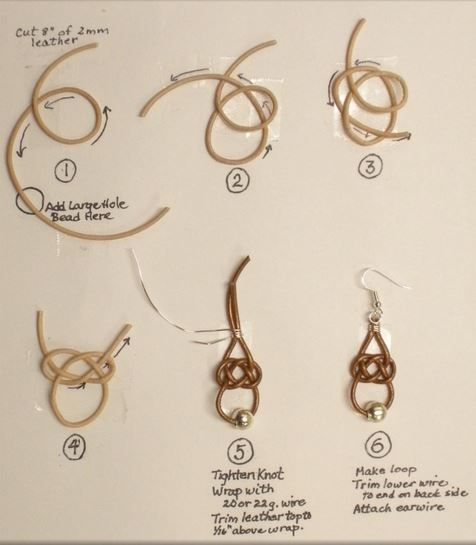 Judy Larsons Leather Celtic Knot Earrings Tutorial - The Beading Gems Journal