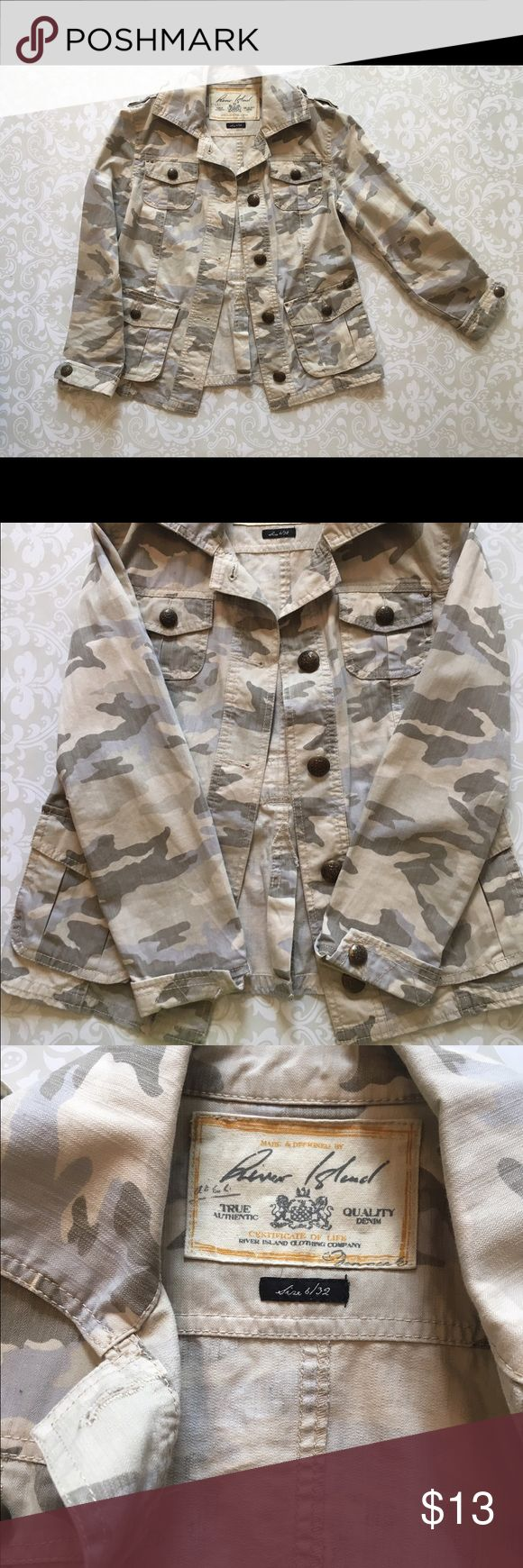 River Island Denim Jacket River Island Denim Jacket. UK size 6. Some buttons are missing. Overall great condition. River Island Jackets & Coats Jean Jackets