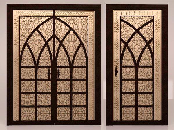 Эскиз двери в марокканском стиле с элементами чеканного орнамента