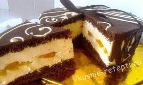 Угощаю Вас нежнейшим торт Сливочные облака с персиками! Получился очень вкусный торт, большой, с нотками любимого солнца - персиками! И само