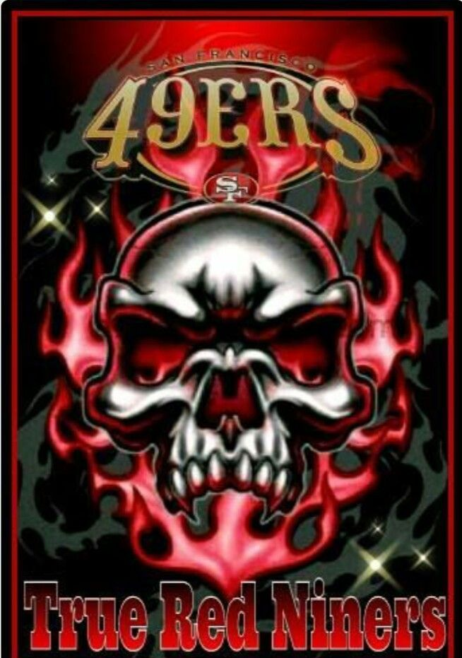 Pin By Stephanie Miller On 49ers Skull Colorful Skulls
