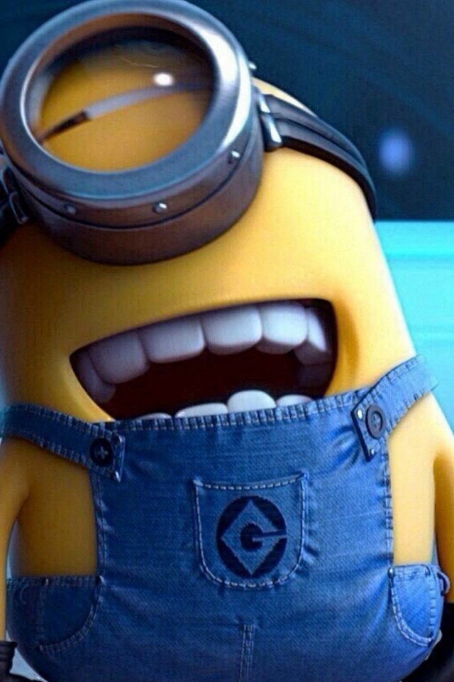 Funny Movie Cartoon Minion #iPhone #4s #wallpaper