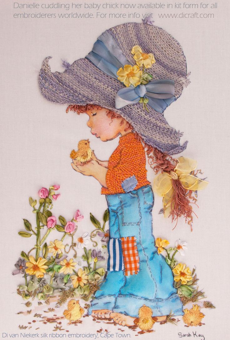 Latest news. Lovely range of Sarah Kay designs for silk ribbon embroidery only available until the end of March 2014...