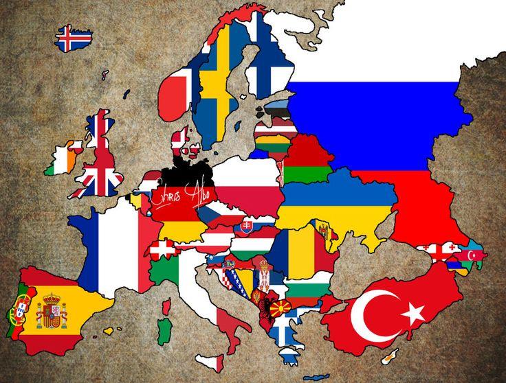 Europe Flag Map by ~ChR1sAlbo on deviantART