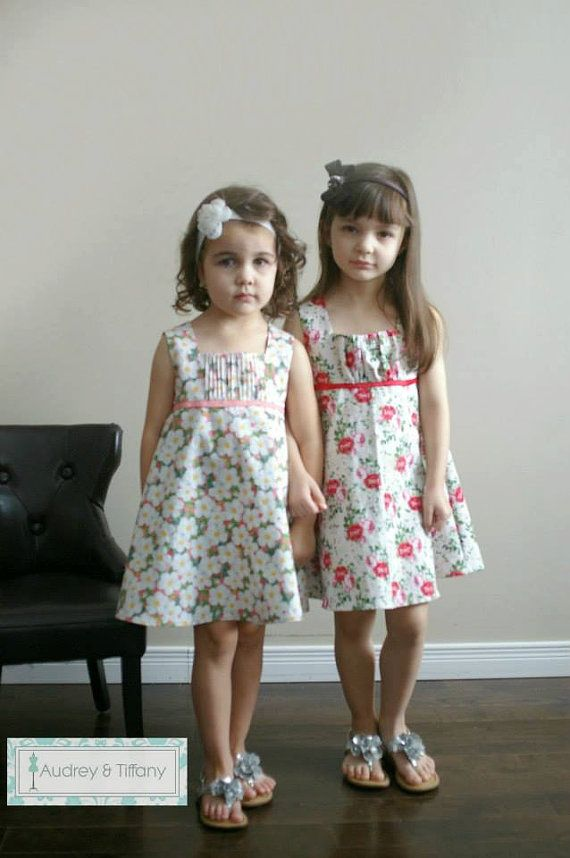 The Holly Dress  PDF Pattern  Sizes 2 to 10  by AudreyTiffany