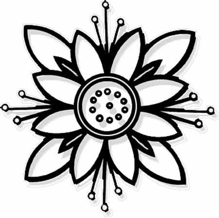 Cute Flower Coloring Sheets | Coloring Page for kids