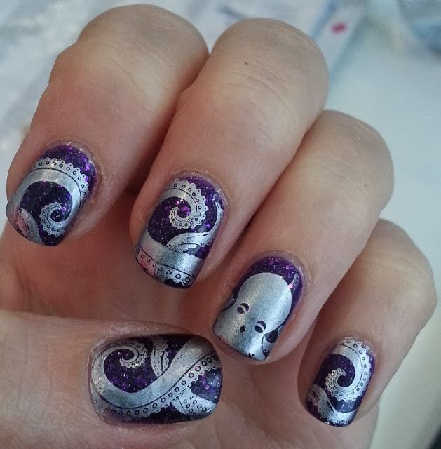 De 198 bsta nails ideas misc bilderna p pinterest octopus nails used 2 images bm 401 full octopus design and tentacle design summer prinsesfo Image collections