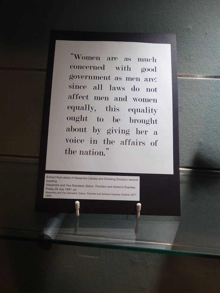Also on display at the Adelaide Town Hall are a series of extracts from letters to the editor of various newspapers around the time the vote was granted. These letters illustrate the range of views that were popular at the time.  On display at the Adelaide Town Hall as part of the 120th anniversary of suffrage celebrations.