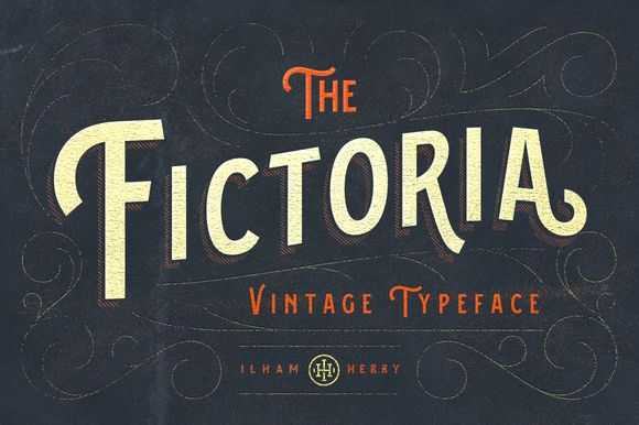 Fictoria Typeface by ilhamherry on Creative Market