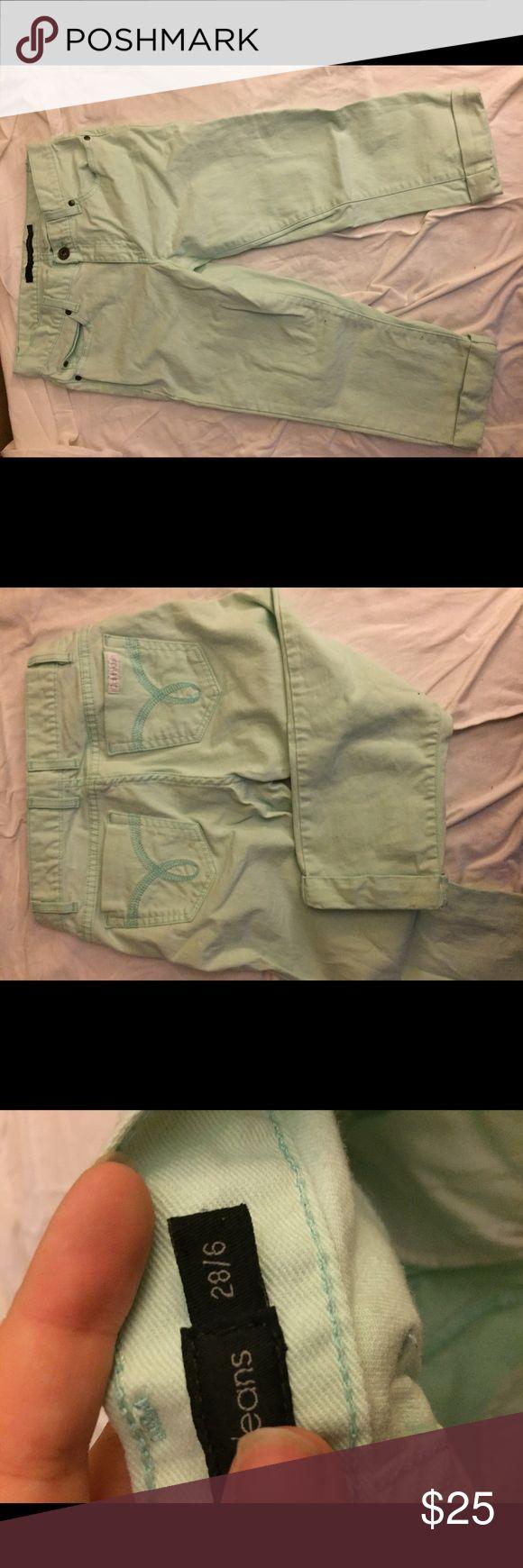 Calvin Klein Mint Capris Cute mint green Ck capris–perfect for dressing up or down! Calvin Klein Pants Capris