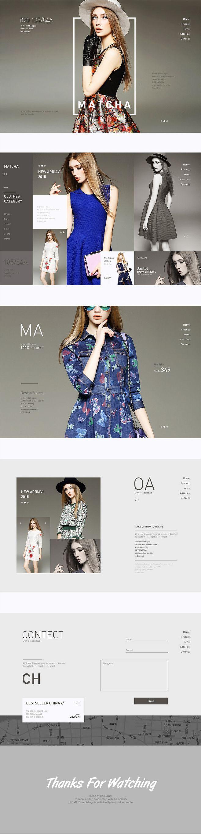 原创作品:欧美高端女装网页练习