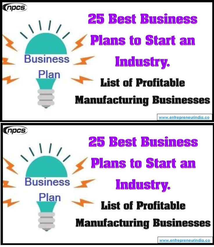 25 Best Business Plans to Start an Industry. List of