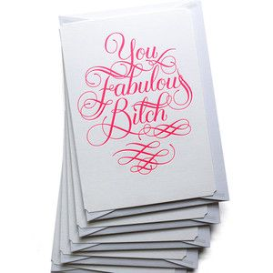 You Fabulous B_tch Set Of 5, $25, now featured on Fab.