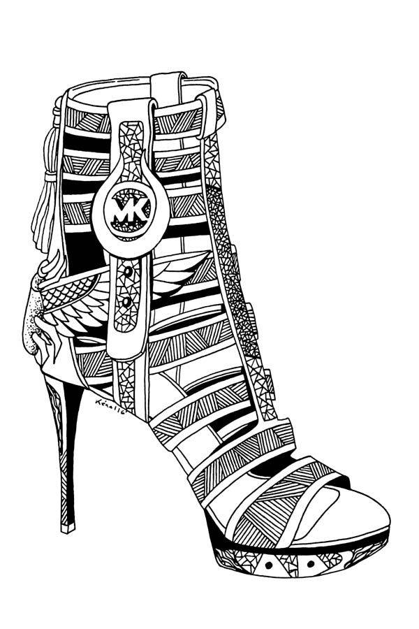 367 Best Adult ColouringShoesFeetsHands Zentangles Images On Pinterest