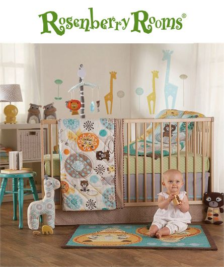Create a cheerful nursery with the Zig Zag Zoo 4-Piece Crib Bedding Set from Lolli Living.  This adorable crib bedding set has everything you need to create a cozy place for your baby