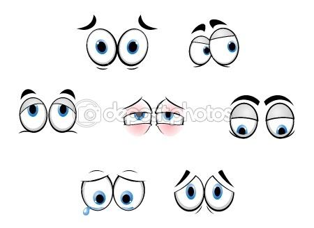 Cartoon funny eyes by Seamartini - Stock Vector
