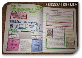Collaboration Cuties: Social Studies Interactive Notebooks- Causes of the American Revolution Nonfiction Articles