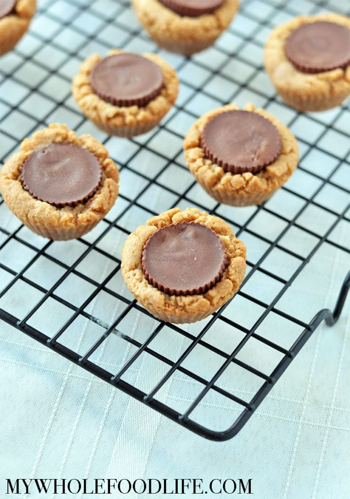 These healthier peanut butter cup cookies are perfect for holiday baking. Vegan, gluten free and grain free. Super simple to make too!